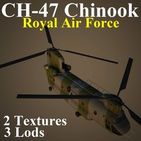 3dsmax ch-47 chinook raf helicopter