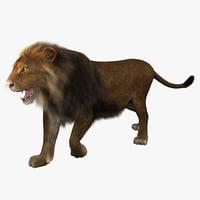 lion pose 2 3d max