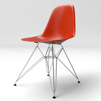 3d c4d eames molded plastic chair