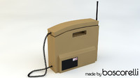 3d retro brick phone model