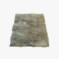 3d model of fluffy fur carpet