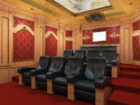 interior home theater 3d max