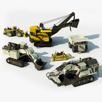 heavy mining vehicles 3d max
