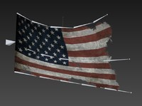flag low-poly 3d max