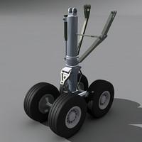 3d model wing landing gear