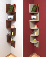 laminated corner shelf 3d model