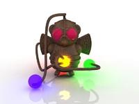 3d steampunk bot robot