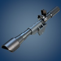 3d model m84 scope rifle