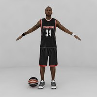 maya custom basketball player