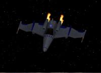 3d model zray ship space