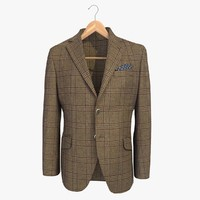 brown male blazer jacket 3d model