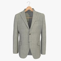 grey male blazer jacket 3d model