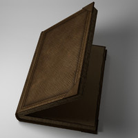 rigged book 3d model