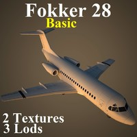 3d model fokker 28 basic