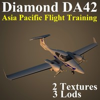 diamond da42 apa airplane 3d max