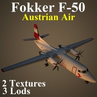 fokker aua 3d model
