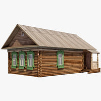 3d izba house model