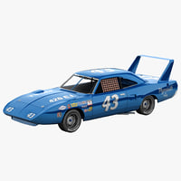 3d nascar car plymouth superbird