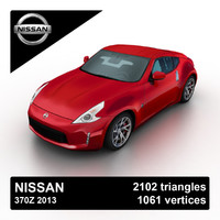 3d 2013 nissan 370z sports model