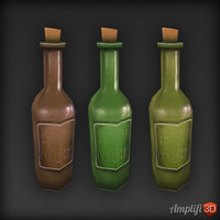 3d bottle beer model