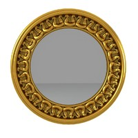 3d carved wall mirror model