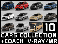 10 cars collection + coach