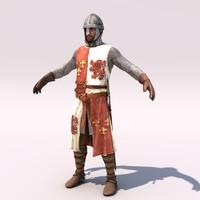 medieval heraldic knight helmet 3d model
