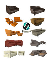 3ds max modern sofas couches