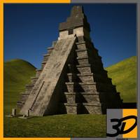 tikal temple 3d max