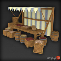 Low Poly Market Stall Seed