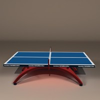 cartoon ping-pong table obj