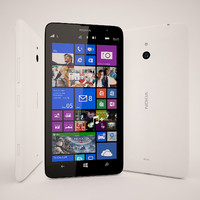 3d nokia lumia 1320 white model