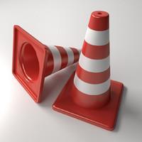 3dsmax traffic cones
