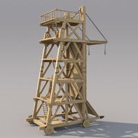 3d medieval siegetower model