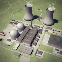 3ds max nuclear power station