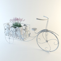3d bicycle stand flowers model