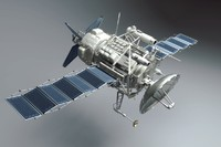 spy satellite 3d model