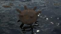 3d model water watermine