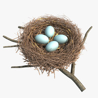 3d bird nest egg