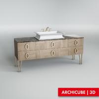 3dsmax cabinet basin
