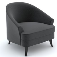 3d bolier classic club chair model