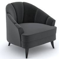 3d model bolier modern luxury club chair