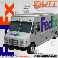 morgan olson van fedex 3d model