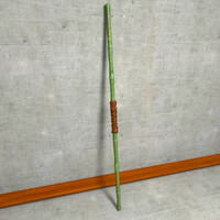 3d bamboo fight staff bo