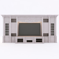 3d model of furniture wall