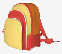 3d backpack pack model