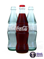 3d model coca cola bottle