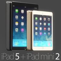 3d ipad 5 mini 2 model