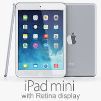 ipad mini retina display 3d model