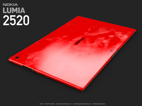 3d model nokia lumia 2520 - Nokia Lumia 2520 HIGH DETAIL... by MartinUtrecht